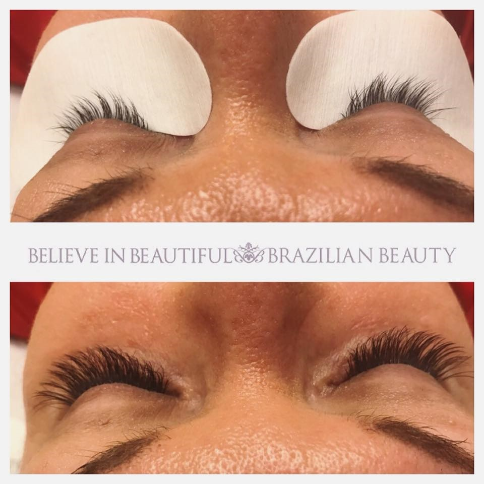 Silk And Russian Volume Eyelash Extensions Brazilian Beauty