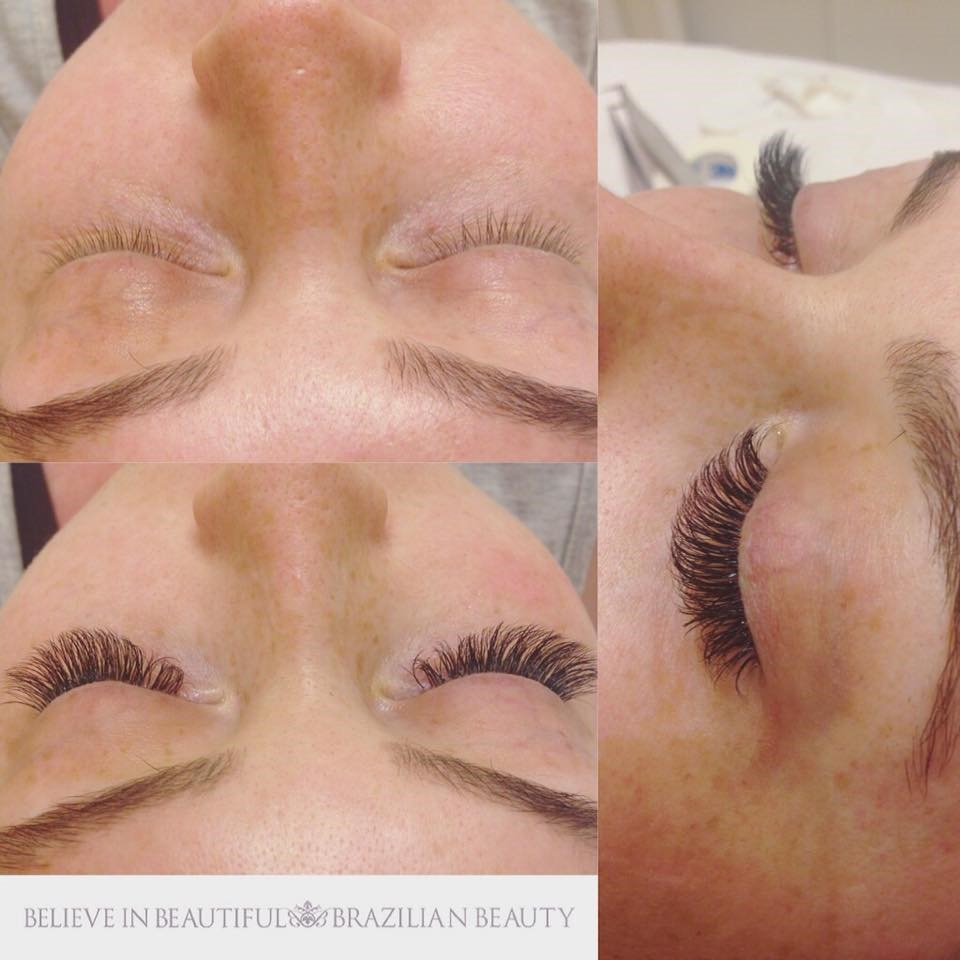 Silk And Russian Volume Eyelash Extensions Brazilian Beauty