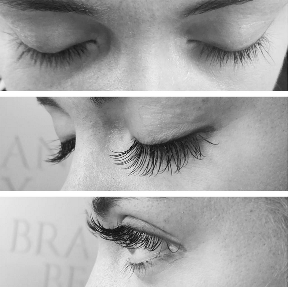 Before and after Eyelash Extensions from Brazilian Beauty Ashgrove