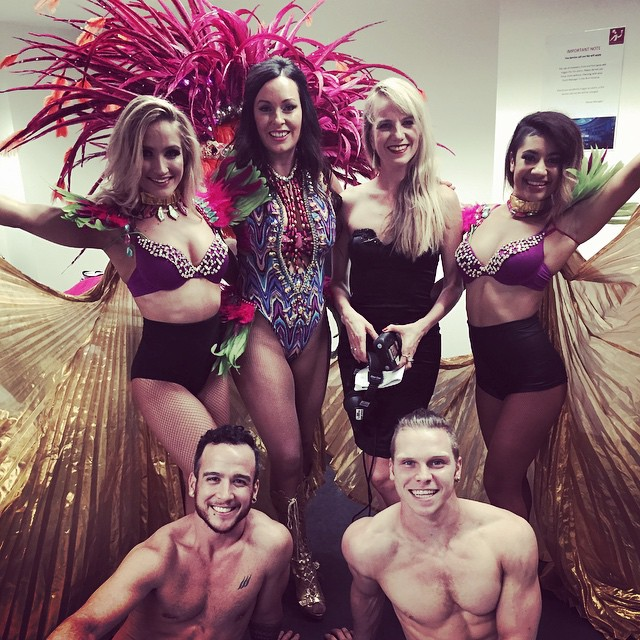 Our CEO Fran with her back up dancers from Mad Dance House
