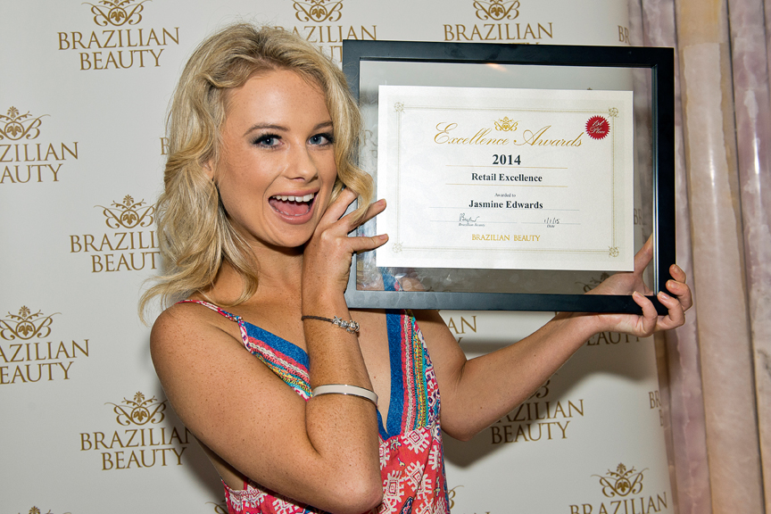 Jasmine Edwards from our Redcliffe salon won the Retail Excellence Award