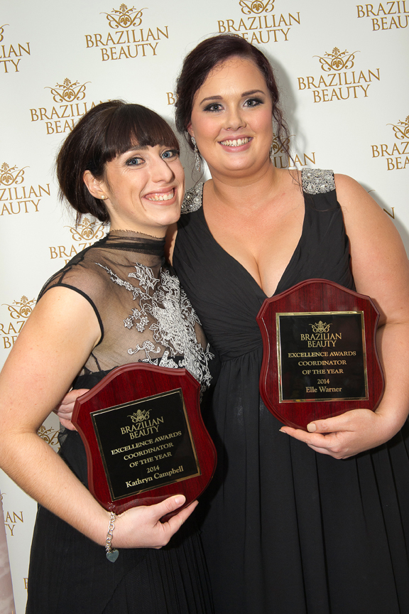 Kathryn Campbell (left) from Bendigo and Elle Warner (right) from Teneriffe jointly won Coordinator of the year