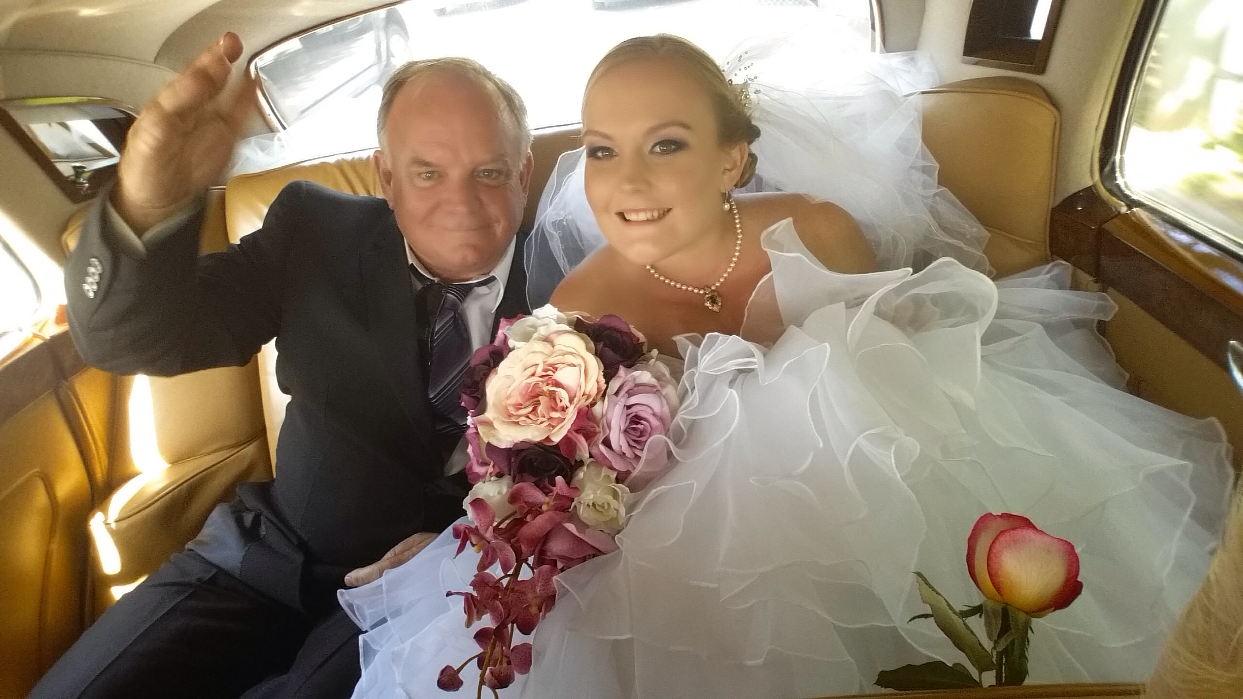 Glowing Bride Krystyna and her Dad!