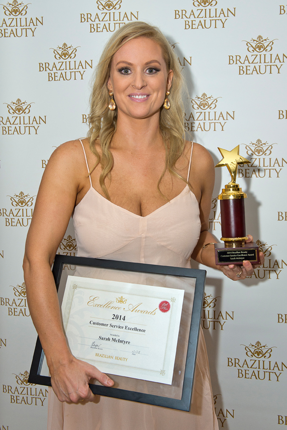 Sarah McIntyre from our East Brisbane salon won the Customer Service Excellence Award