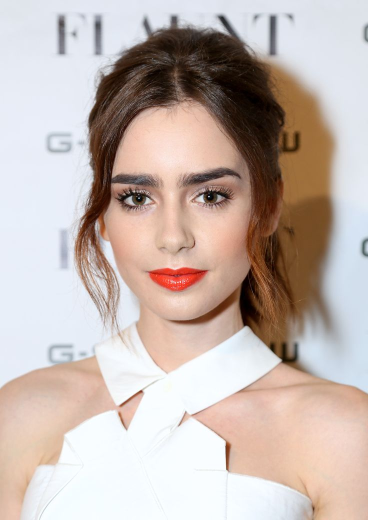 Caption: Channel Lily Collin's summer look using only your Youngblood lipstick! Pic: Pinterest